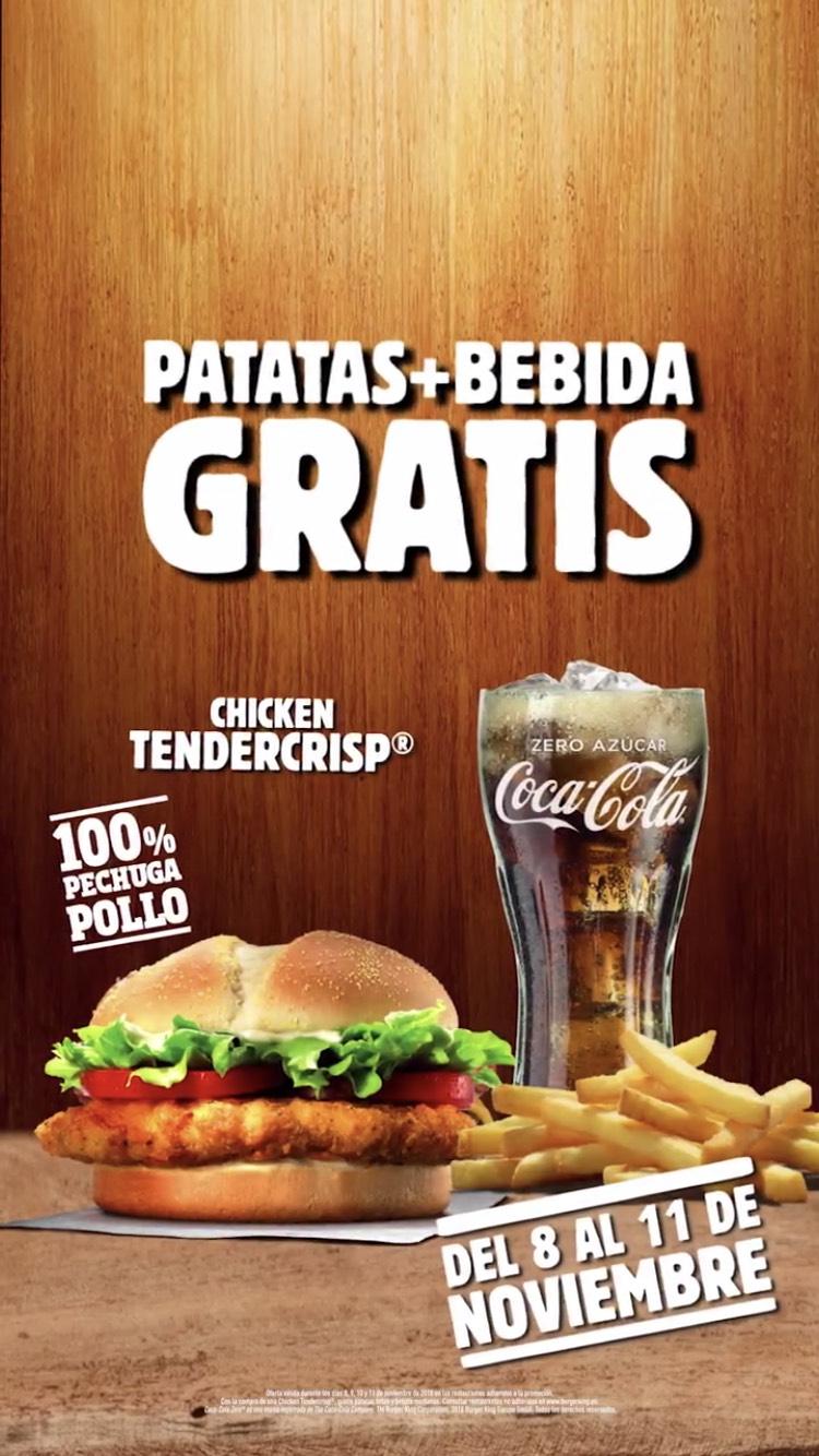 Patatas + Bebida gratis en BK