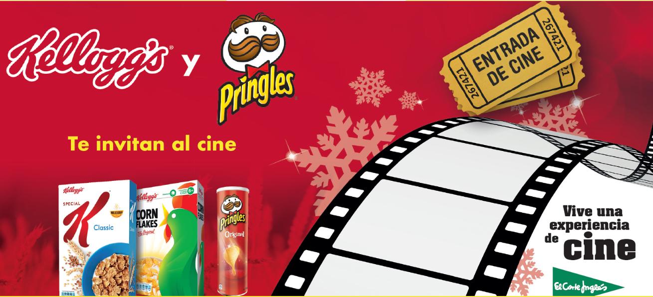 REGALO DE 2 ENTRADAS DE CINE por compra de 10€ en Kelloggs y Pringles