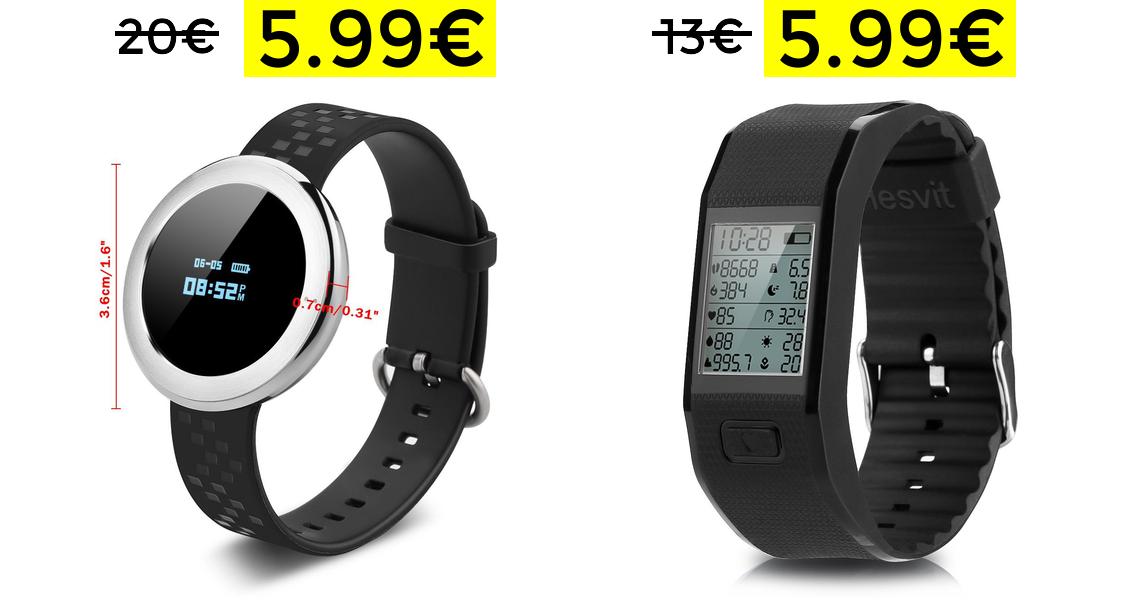 Smartwatches con Podómetro, Bluetooth 4.0 y OLED