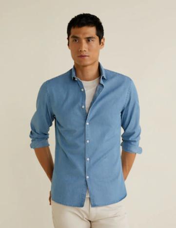 Todas las camisas para hombre de MANGO a 19,99€