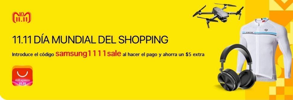 5$ (4.47€) con Samsung en Aliexpress compras superiores a 44.7€