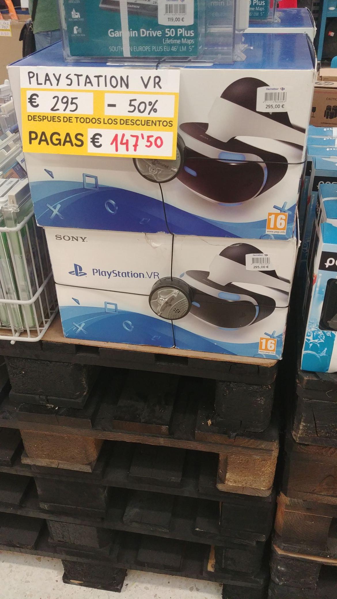 PlayStation VR con descuento en el outlet del Carrefour en Parque Astur (Avilés)