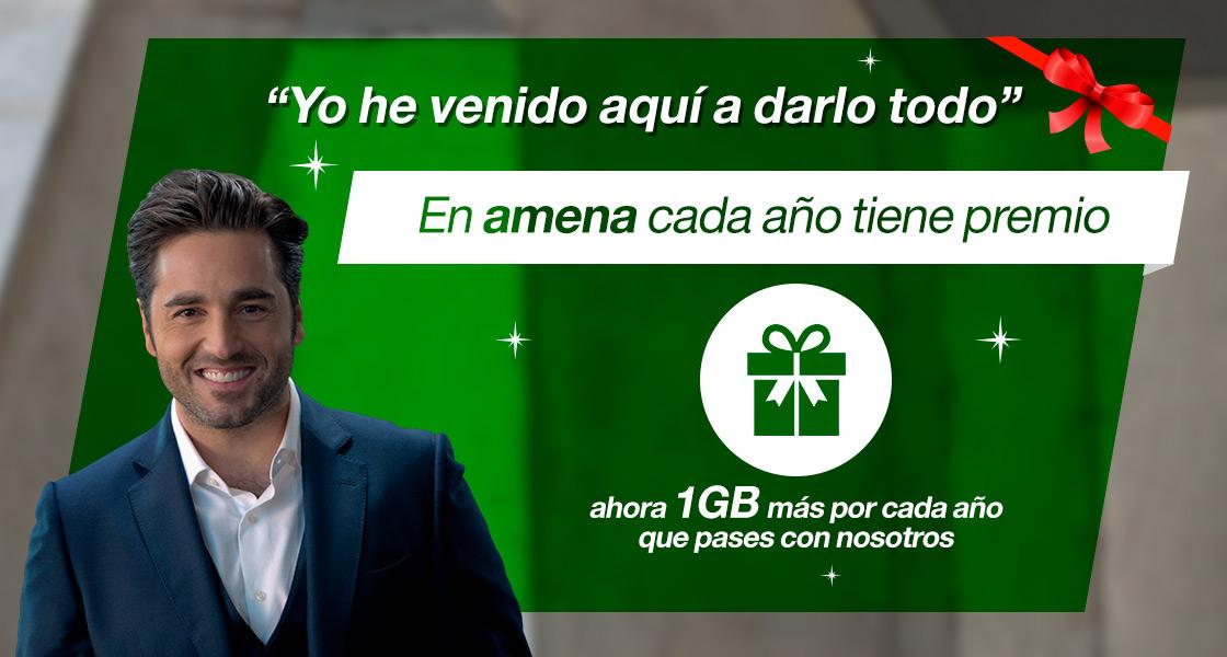 AMENA regala 1GB al mes