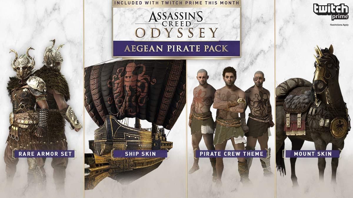 Pack pirata para Assassins Creed Odyssey con Twitch Prime GRATIS