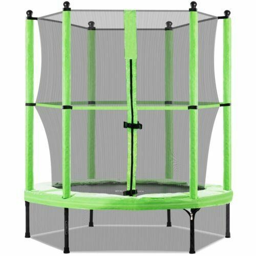 Cama elastica niños trampolin jardin colchoneta con red seguridad 140cm-PlayKin
