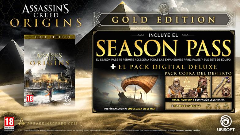 ASSASSIN'S CREED ORIGINS - Gold Edition (PC - Código)