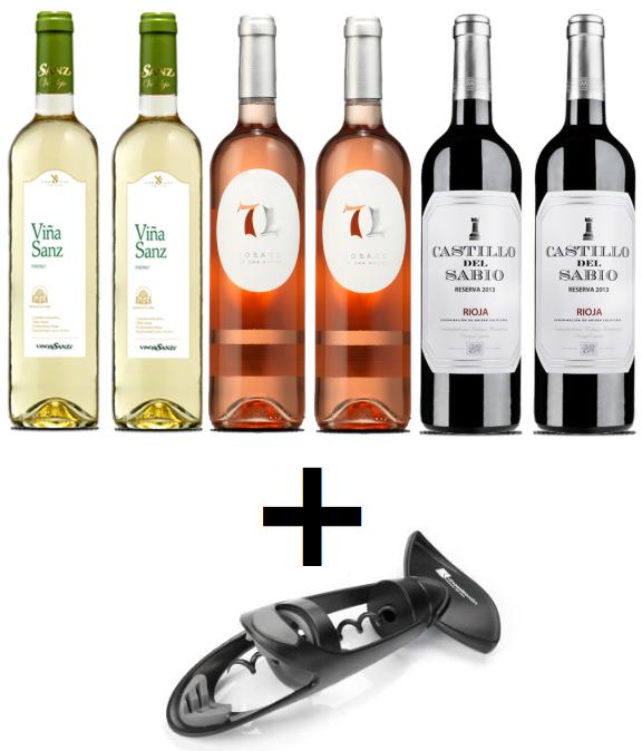 Pack 6 vinos Especial 11/11 solo 30.9€
