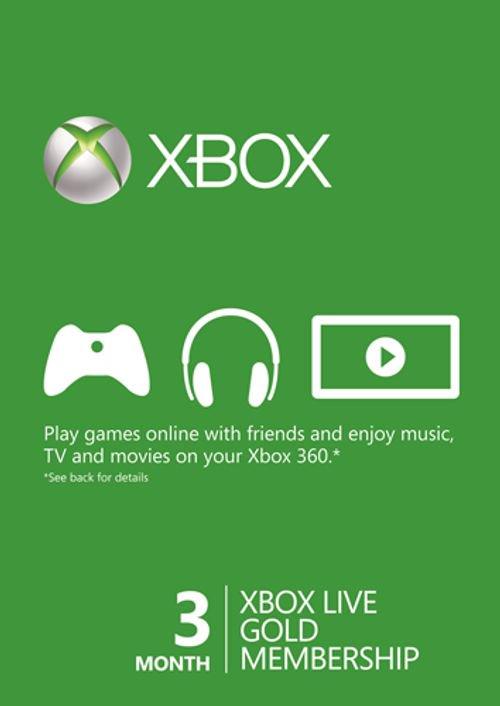 XBOX: Suscripción Xbox Live Gold 3 meses