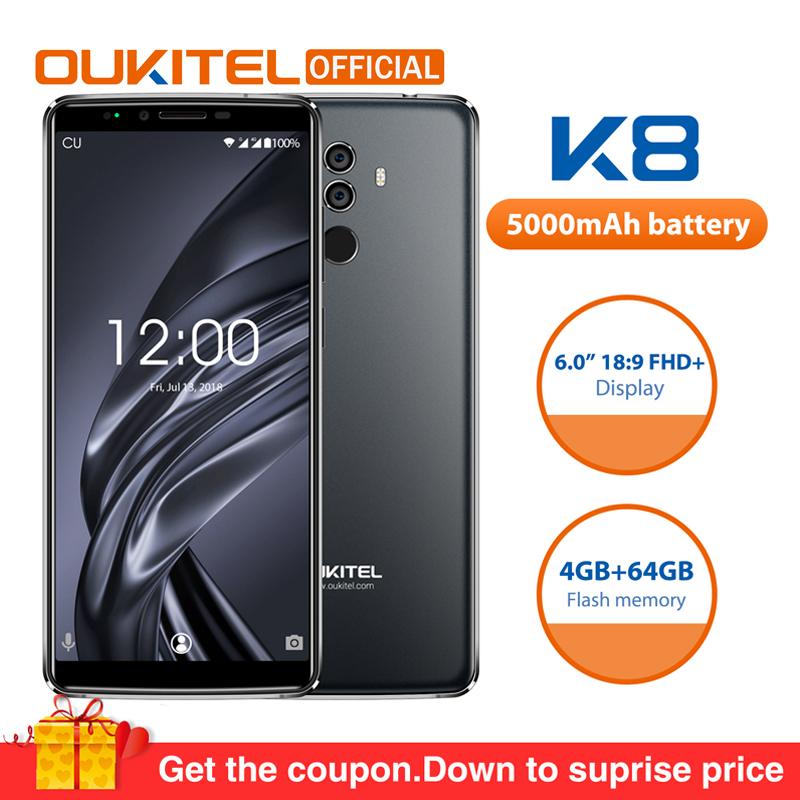 OUKITEL K8 4G RAM 64G con huella