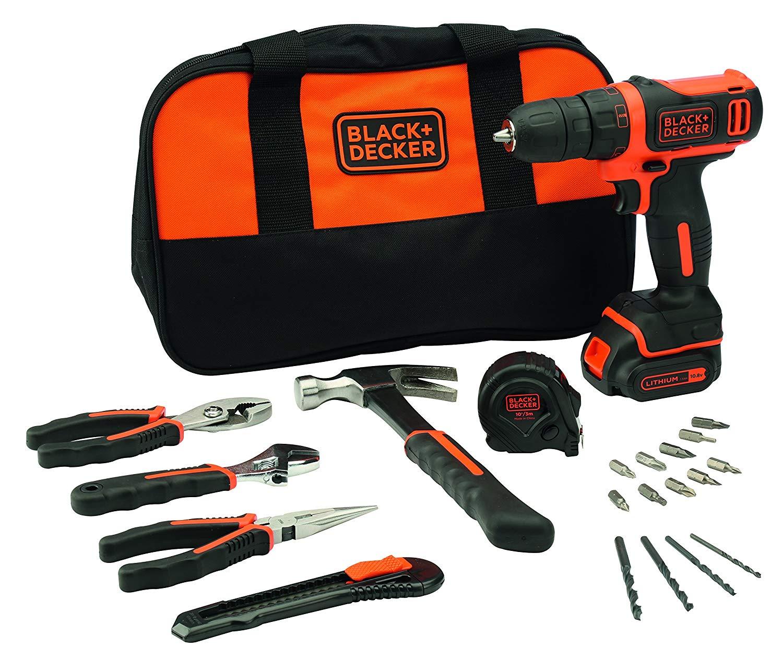 Taladro BlackDecker + herramientas 45€