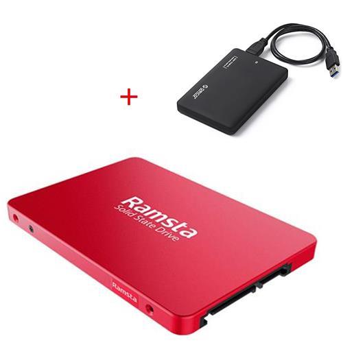 Ramsta S800 480GB SSD + Caja externa para HDD