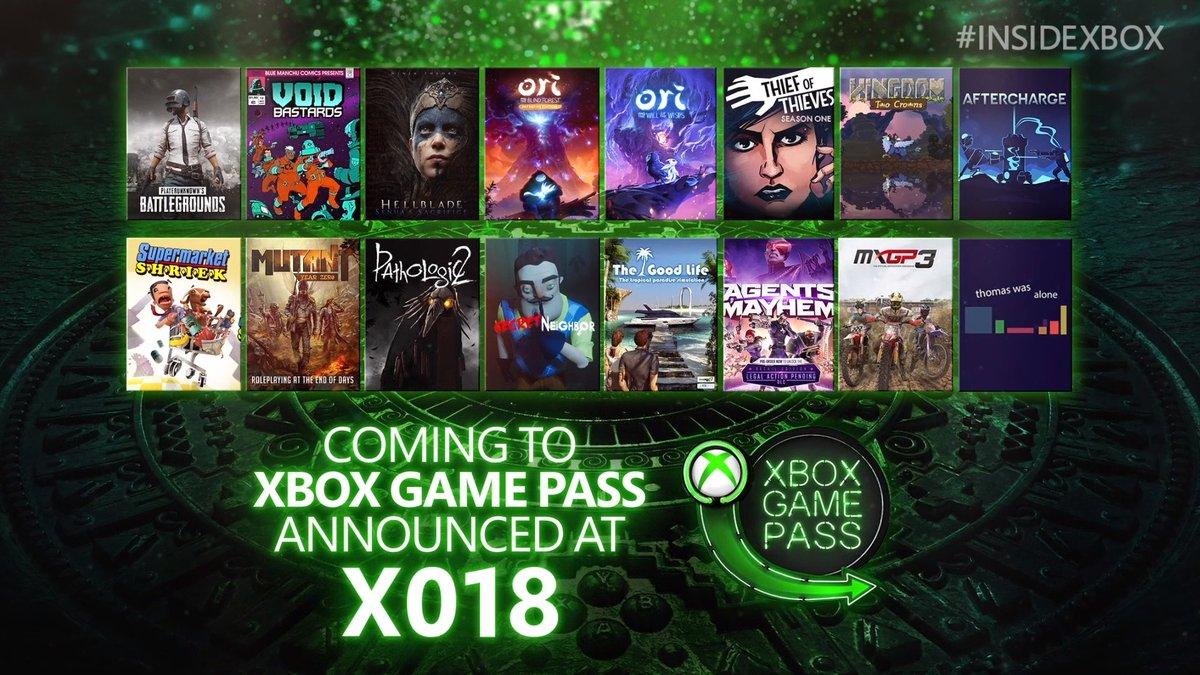 Juegos para Xbox Game Pass XO18