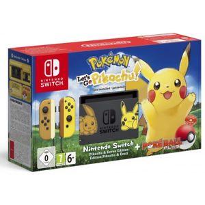 Nintendo switch edicion limitada pokemon let's go pikachu + pokeball plus