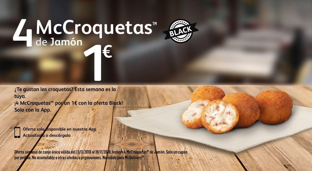 4 McCroquetas 1€ (Oferta Black)