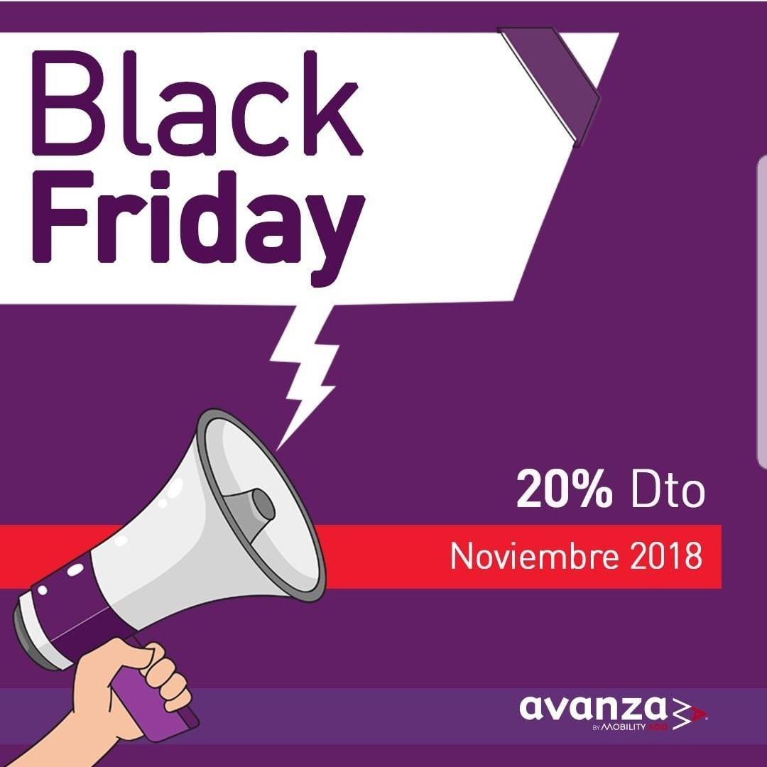 Promoción Black Friday en Avanzabus