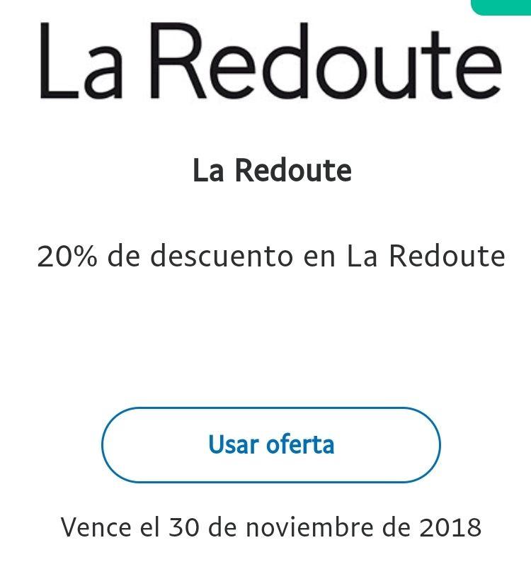 20% extra descuento en La Redoute con PayPal