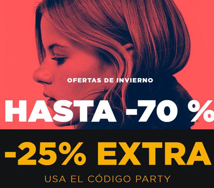 Hasta 70% + 25% EXTRA en ropa de fiesta