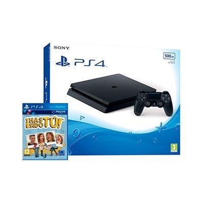 PlayStation 4 (PS4) - Consola De 500 GB, Color Negro + Voucher ¡Has Sido Tú!