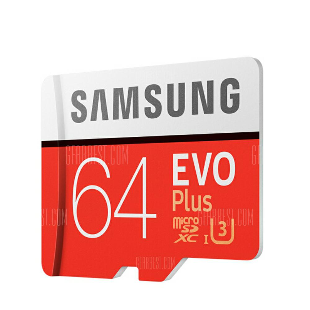 Tarjeta de memoria Micro SDXC original UHS-3 64GB de Samsung-64GBNARANJA