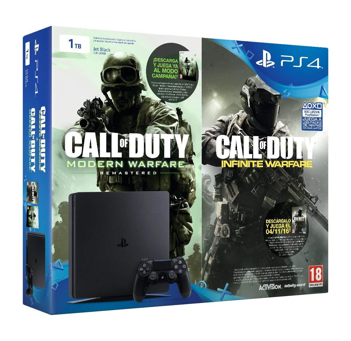 PlayStation 4 Slim (PS4) 1TB (Reacondicionada) + Call Of Duty: Infinite Warfare + Call Of Duty