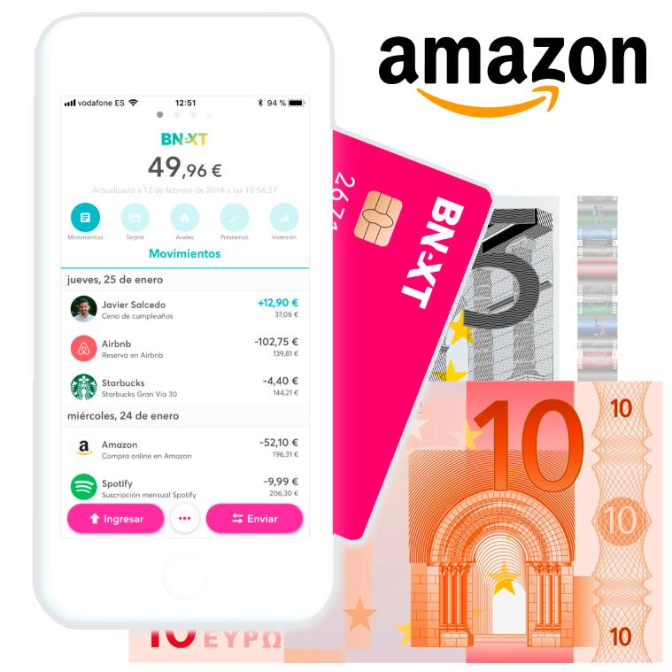 15€ GRATIS BNEXT + 10% AMAZON + 1% EN TODO