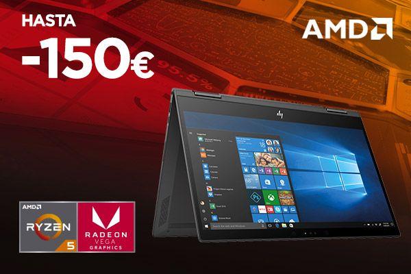 Hasta -150€ en todos los ordenadores con procesador AMD Ryzen