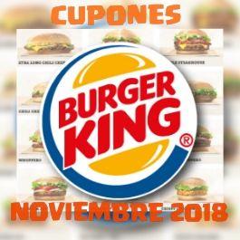 Cupones Burger King de Noviembre 2018