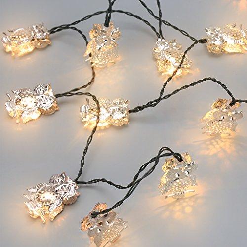 Cadena de luces con forma de buho (solares)