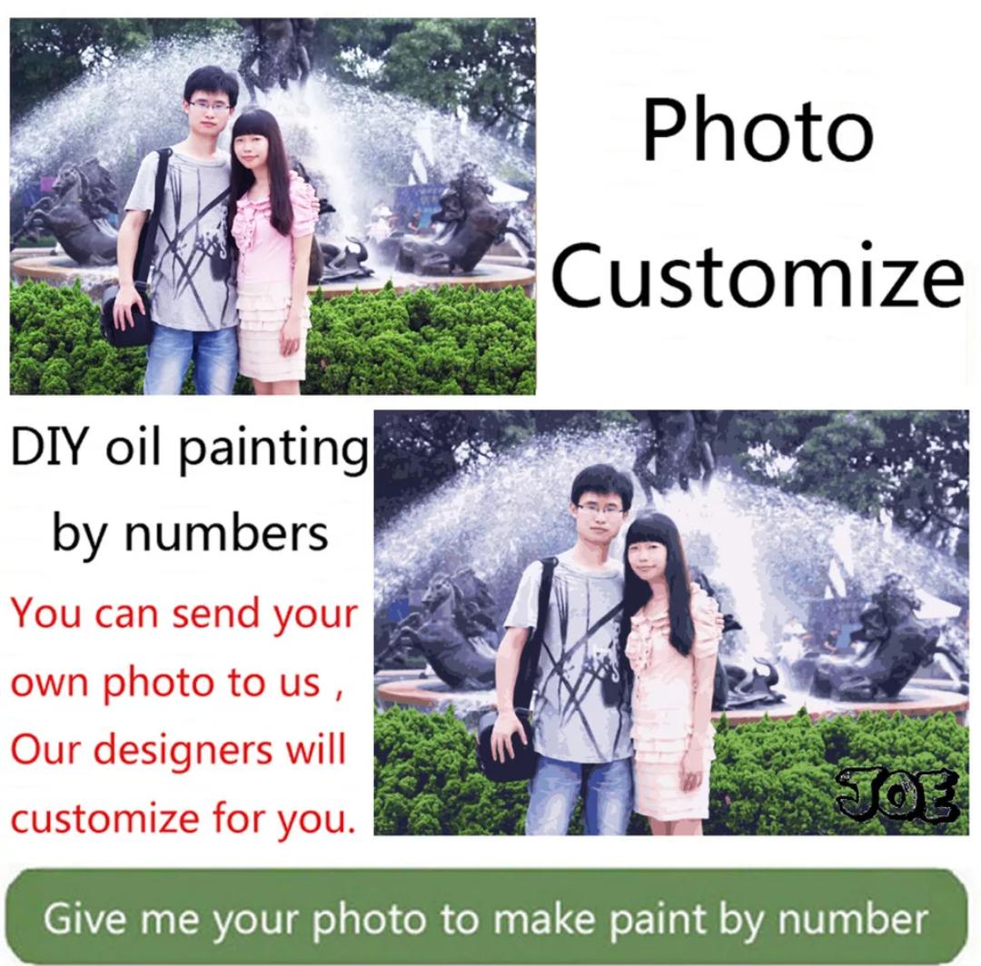 Kit de pintura con una foto propia