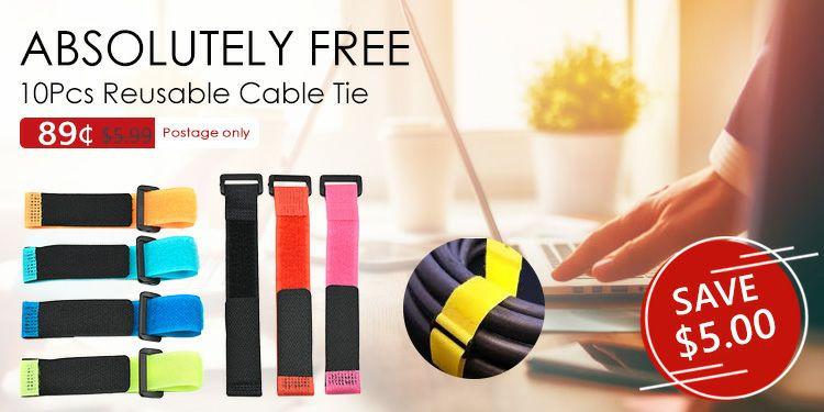 10 sujeta cables reutilizables