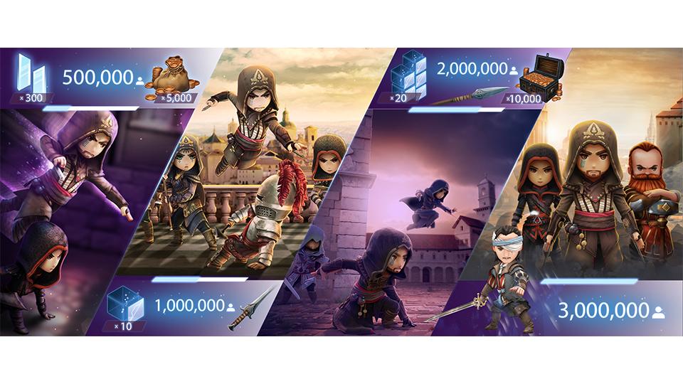 Pre-inscripción gratuita al juego Assasin's Creed Rebelion + Bonus de 300 Helix (Android y Apple)
