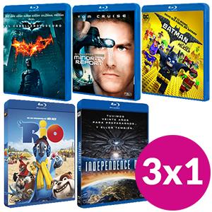 3X1 EN PELÍCULAS BLU-RAY desde 7.95€