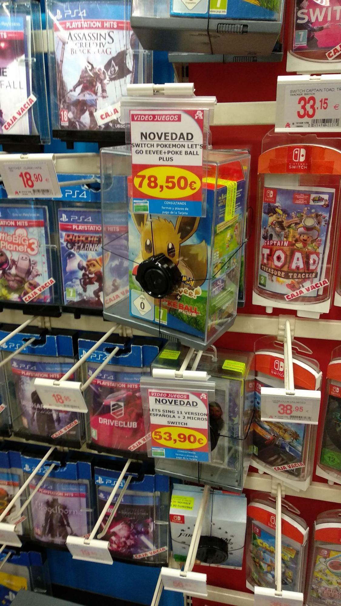 Pokemon eevee más pokeball, Nintendo switch (Alcampo de la vaguada)