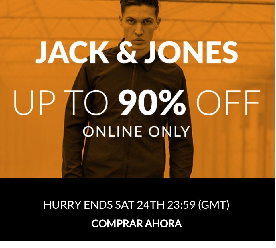 Jack And Jones grandes descuentos (hasta 90%)