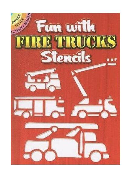 seis plantillas de vehículos contra incendios