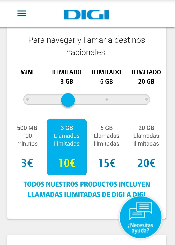 3 GB y llamadas ilimitadas por 10 euros