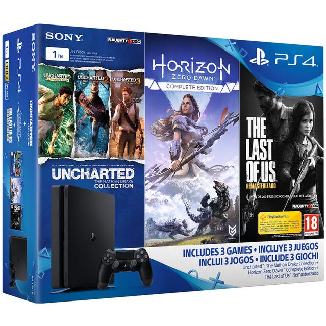 Playstation 4 1TB +Pack 3 juegos