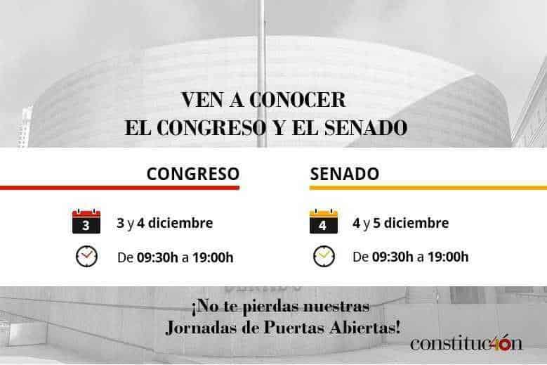 Congreso de los Diputados y El Senado Jornada de puertas abiertas