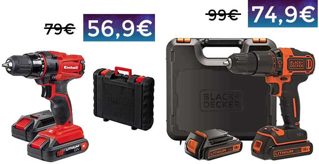 Taladro Einhell 2 baterías 18v solo 56.9€