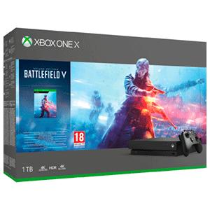 XBOX ONE X 1TB + BATTLEFIELD V + C.Descarga de Gears of War 4