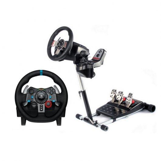 Logitech G29 Driving Force para PS4/PS3/PC + Wheel Stand Pro Deluxe para Logitech G25/G27/G29/G920