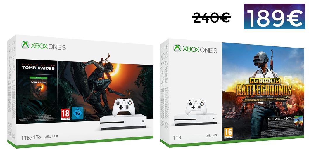 Xbox One S de 1TB + Juego = 189€