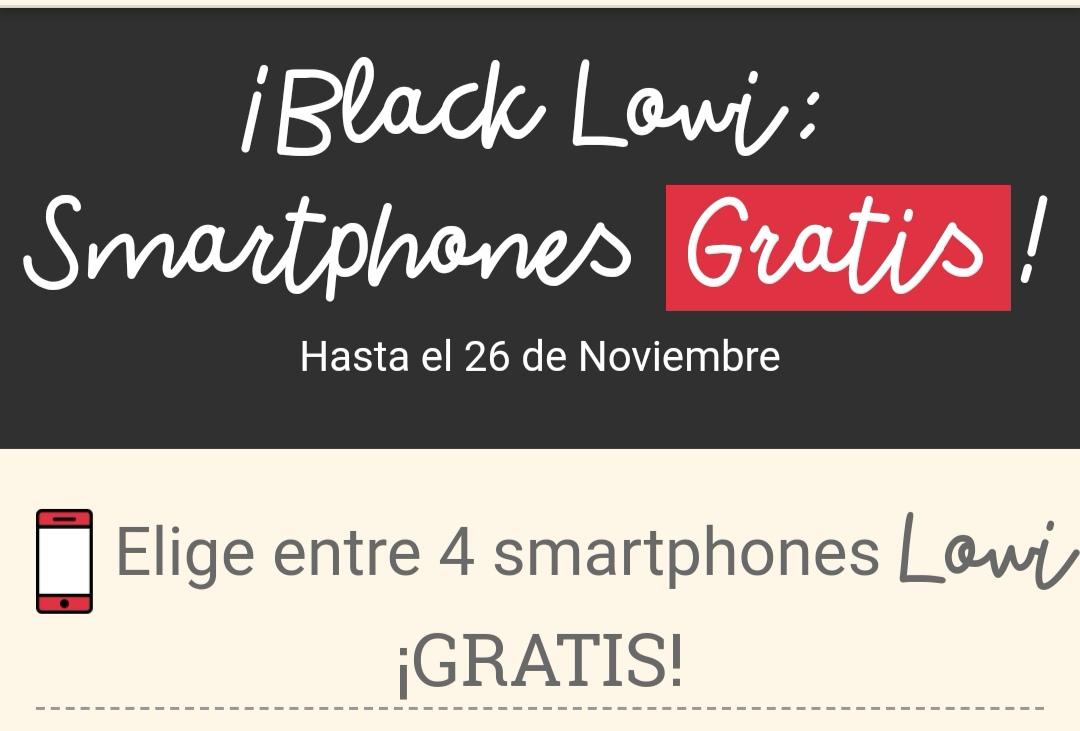 ¡Black Lowi: Smartphones Gratis!