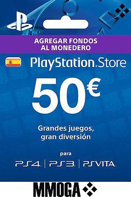Tarjeta Prepago PSN PlayStation Network 50 Euros ( PS4 PS3 PS Vita) a solo 39.99