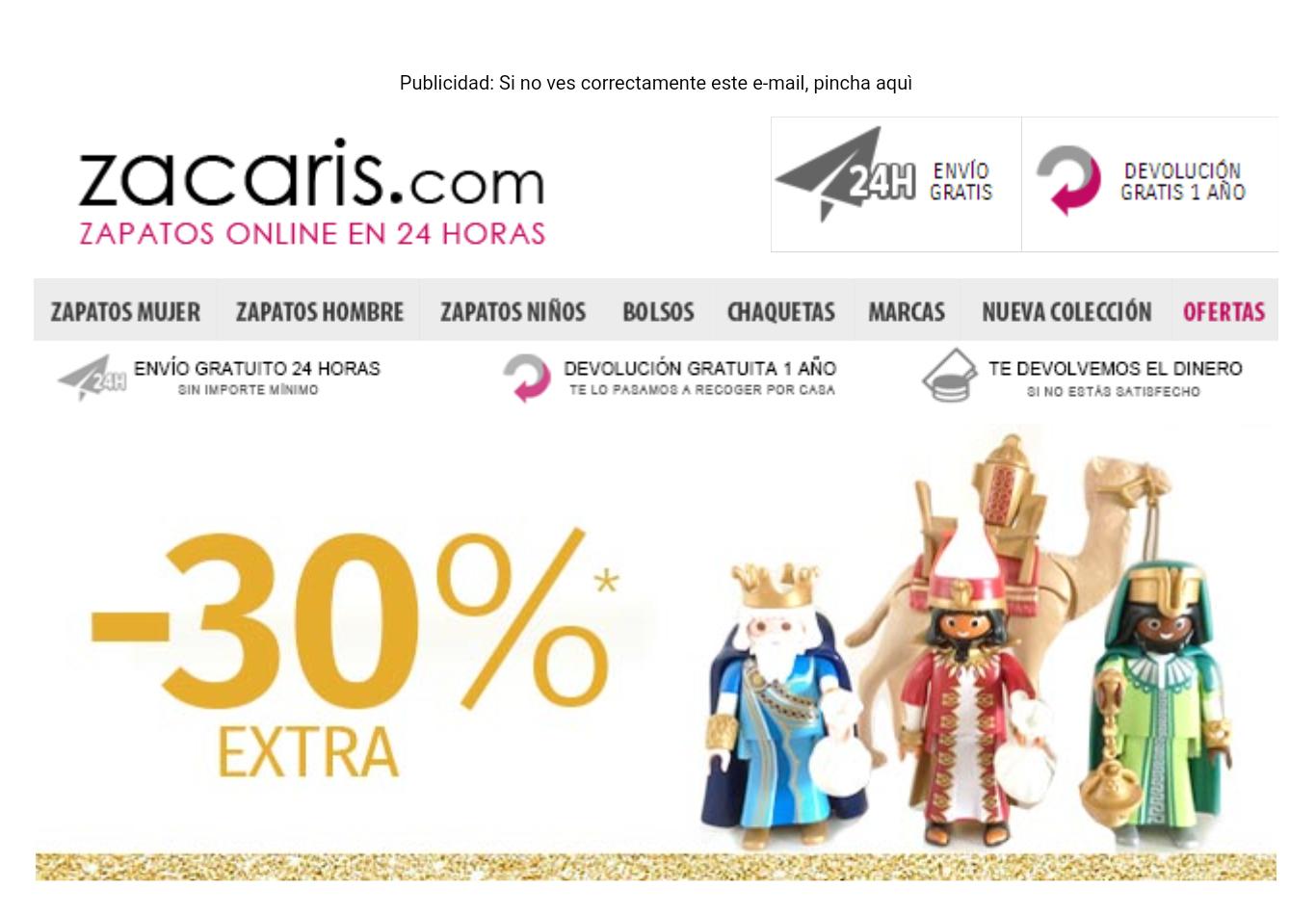 ZACARIS: 30% DTO. EXTRA + Ofertas hasta el 70% Dto.