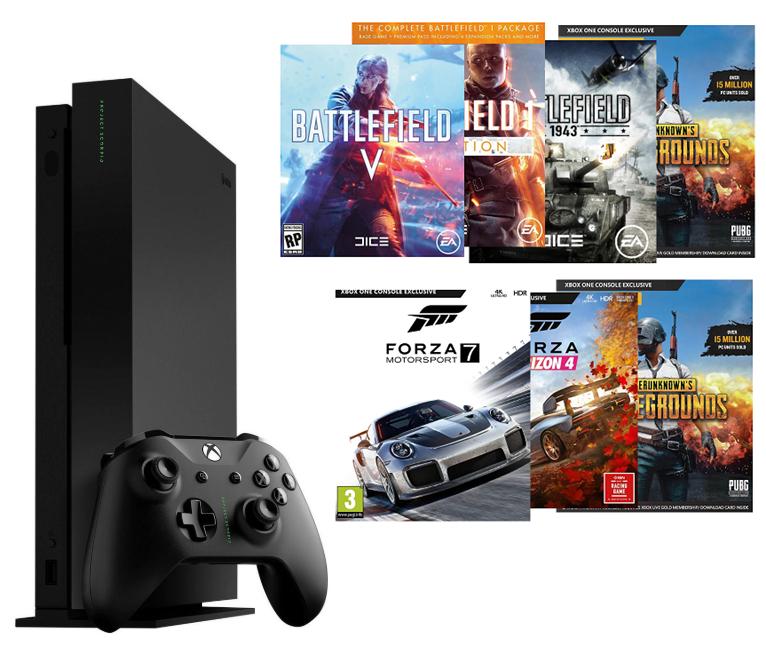 Xbox One X + 4 juegos solo 399€