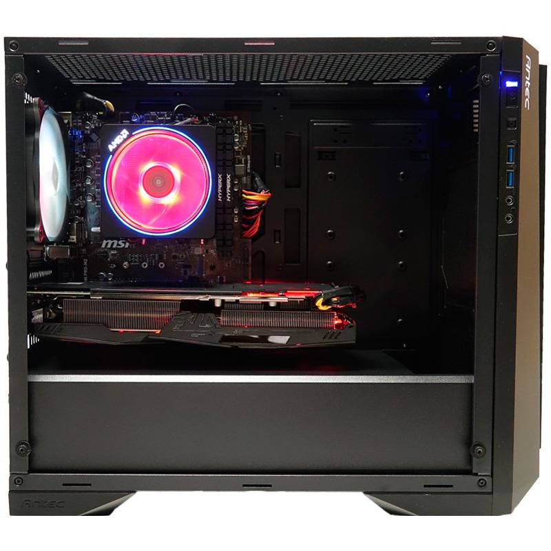 CoolPC Black III  R5 2600 / Radeon RX 580 8Gb / 8GB DDR4 / SSD 240Gb + 1Tb HDD / B450