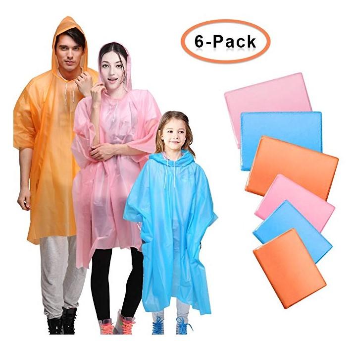 Pack de 6 Poncho / Chubasquero / Impermeable