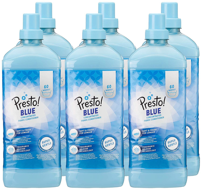 Presto! Suavizante concentrado azul, 360 lavados (6 Packs, 60 cada uno)