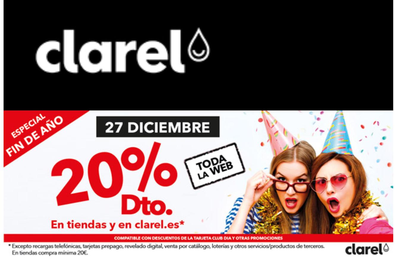 CLAREL: 20% DTO. en todo. Online y en tienda.